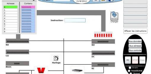 Simulation de fonctionnement du microprocesseur